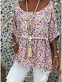 povoljno Majica s rukavima-Veći konfekcijski brojevi Majica Žene Cvjetni print Slim Obala
