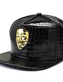 halpa Nahka-V for Vendetta Cosplay-Asut Hatut Aikuisten Miesten Cosplay Halloween Halloween Karnevaali Masquerade Festivaali / loma PU-nahka Valkoinen / Hopea / Kultainen Karnevaalipuvut Color Block