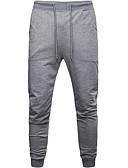 זול מכנסיים ושורטים לגברים-בגדי ריקוד גברים ספורטיבי מכנסי טרנינג מכנסיים - אחיד שחור אפור XL XXL XXXL
