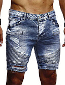 billige T-shirts og undertrøjer til herrer-Herre Basale Shorts Bukser - Ensfarvet Blå