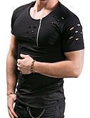 povoljno Muške majice i potkošulje-Veličina EU / SAD Majica s rukavima Muškarci Jednobojni Okrugli izrez Deva