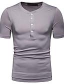 abordables Sudaderas de Hombre-Hombre Camiseta Un Color Negro L