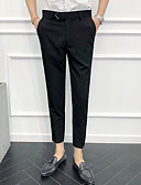 abordables Pantalones y Shorts de Hombre-Hombre Básico Chinos Pantalones - A Rayas Clásico Negro Gris 33 34 36