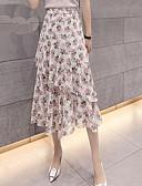 billige Nederdele-kvinders midi swing nederdele - blomster