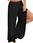 povoljno Džemperi i kardigani za djevojčice-Žene Osnovni Veći konfekcijski brojevi Slim Wide Leg Hlače - Jednobojni Crn Lila-roza Svjetloplav M L XL