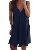 hesapli Kadın Elbiseleri-Kadın's Zarif A Şekilli Elbise - Solid Diz üstü