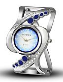hesapli Kuvars Saatler-Kadın's Bilezik Saat Günlük Moda Gümüş Alaşım Çince Quartz Siyah YAKUT Doğal Pembe Yaratıcı Gündelik Saatler Analog