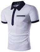 abordables Vestidos de Novia-Hombre Talla EU / US Polo, Cuello Camisero Un Color Blanco L
