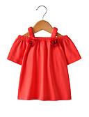 povoljno Majice za djevojčice-Dijete koje je tek prohodalo Djevojčice Osnovni Jednobojni Kratkih rukava Pamuk Bluza Red