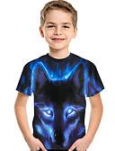 povoljno Majice za dječake-Djeca Dijete koje je tek prohodalo Dječaci Aktivan Osnovni Print Print Kratkih rukava Majica s kratkim rukavima Plava