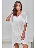 זול ביקיני-לבן מידה אחת אחיד, בגדי ים כיסוי חצאית לבן שחור בסיסי בגדי ריקוד נשים
