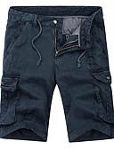 tanie Męskie spodnie i szorty-Męskie Podstawowy Szczupła Szorty Spodnie - Solidne kolory Bawełna Czarny Zieleń wojskowa Khaki 34 36 38