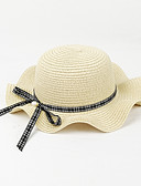 זול שמלות לבנות-מידה אחת פוקסיה / כחול בהיר / חאקי כובעים ומצחיות פפיון אחיד / Houndstooth פעיל / בסיסי / מתוק בנות ילדים / פעוטות