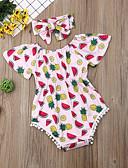 זול סטים של ביגוד לתינוקות-חליפת גוף כותנה שרוול קצר פרנזים / דפוס דפוס פעיל / בסיסי בנות תִינוֹק