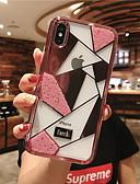 זול מגנים לאייפון-מגן עבור Apple iPhone XR / iPhone XS Max / iPhone X ריינסטון כיסוי אחורי תבנית גאומטרית קשיח זכוכית משוריינת