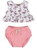 זול סטים של ביגוד לתינוקות-סט של בגדים כותנה קצר ללא שרוולים דפוס פעיל / בסיסי בנות תִינוֹק / פעוטות