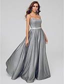 cheap Evening Dresses-A-Line Square Neck Floor Length Taffeta / Sequined Sparkle & Shine Formal Evening Dress with Sequin / Pleats by TS Couture®