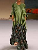 זול שמלות מקרית-מקסי גיאומטרי - שמלה נדן בסיסי בגדי ריקוד נשים