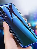 זול מגנים לטלפון-מגן עבור Samsung Galaxy A6 (2018) / A6+ (2018) / Galaxy A7(2018) ציפוי / אולטרה דק / שקוף כיסוי אחורי אחיד רך TPU