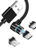 זול כבל & מטענים iPhone-כבל USB מגנטי עבור iPhone x xr xs max 8 7 מגנט מרפק כבל סמסונג גלקסיה s10 s10 9 huawei p30 s10e דוחן mi pro