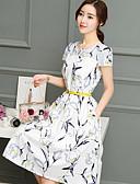 tanie W stylu vintage-Damskie Linia A Sukienka - Geometric Shape Do kolan