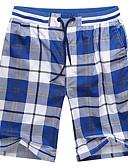 halpa Miesten housut ja shortsit-Miesten Perus Shortsit Housut - Pleedi / ruutu Uima-allas Keltainen Vaalean sininen XXXL XXXXL XXXXXL