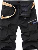 Недорогие Мужские брюки и шорты-Муж. Классический Тонкие Шорты Брюки - Однотонный Черный Военно-зеленный Хаки 38 35 42