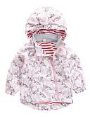 billige Jakker og frakker til drenge-Børn Drenge Aktiv / Basale Trykt mønster / Farveblok / Patchwork Patchwork Normal Polyester Trenchcoat Lyserød