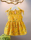 זול סטים של ביגוד לתינוקות-שמלה מעל הברך ללא שרוולים דפוס פרחוני פעיל בנות תִינוֹק / פעוטות