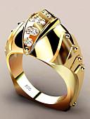 levne Bikini a plavky-Dámské Bílá Syntetický diamant Geometrické Band Ring Prsten Pozlacené Ryby Moderní Fashion Ring Šperky Žlutá Pro Párty Dar 6 / 7 / 8 / 9 / 10