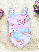 hesapli Kız Çocuk Mayoları-Çocuklar Toddler Genç Kız Kumsal Unicorn Desen Mayolar Doğal Pembe