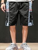 hesapli Erkek Pantolonları ve Şortları-Erkek Sokak Şıklığı Salaş Şortlar Pantolon - Desen Siyah Gri XXXL XXXXL XXXXXL