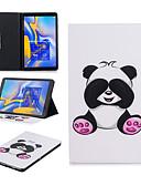Недорогие Чехол Samsung-Кейс для Назначение SSamsung Galaxy Tab S4 10.5 (2018) Бумажник для карт Чехол Животное / Мультипликация / Панда Мягкий Кожа PU