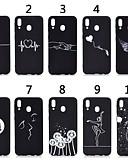 זול מגנים לטלפון-מגן עבור Samsung Galaxy A6 (2018) / A6+ (2018) / Galaxy A7(2018) מזוגג / תבנית כיסוי אחורי פרפר / לב רך TPU