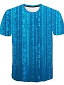 billige T-shirts og undertrøjer til herrer-Rund hals Tynd Herre - Geometrisk EU / US størrelse T-shirt Blå XXL
