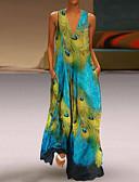 זול שמלות מקסי-מקסי גיאומטרי - שמלה נדן וינטאג' בסיסי בגדי ריקוד נשים