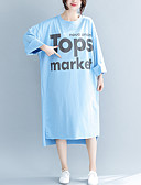abordables Robes-Femme Midi Courte Robe Orange Bleu clair Gris Clair L XL Manches 3/4