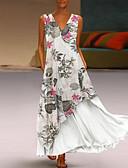 abordables Vestidos Estampados-Mujer Básico Vaina Vestido Floral Maxi