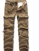 levne Pánské kalhoty a kraťasy-Pánské Základní Štíhlý Kalhoty chinos Kalhoty - Jednobarevné Světle zelená Armádní zelená Khaki XXXL XXXXL XXXXXL