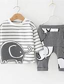 povoljno Baby Boys' One-Piece-Dijete Dječaci Ležerne prilike / Osnovni Prugasti uzorak / Geometrijski oblici Print Dugih rukava Regularna Normalne dužine Pamuk Komplet odjeće Obala
