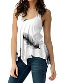 hesapli Pijamalar-Kadın's Askılı Tişört Çiçekli Siyah