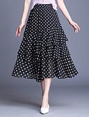 cheap Men's Tees & Tank Tops-Women's Basic Swing Skirts - Polka Dot Chiffon Black / Loose