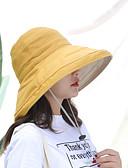 זול כובעים לנשים-אביב קיץ סגול צהוב פוקסיה כובע שמש אחיד כותנה פשתן פעיל בסיסי סגנון חמוד בגדי ריקוד נשים