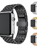 halpa Smartwatch-nauhat-Watch Band varten Apple Watch Series 4 Apple Moderni solki Metalli / Ruostumaton teräs Rannehihna