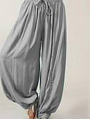 ieftine Print Dresses-Pentru femei De Bază Mărime Plus Size Larg Pantaloni Chinos / bloomers Pantaloni - Mată Gri Închis Gri Albastru Deschis XXXL XXXXL XXXXXL