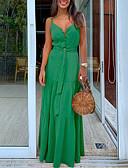 abordables Vestidos de Mujer-Mujer Vaina Vestido Un Color Maxi
