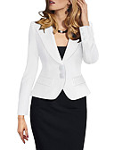 זול חצאיות לנשים-בגדי ריקוד נשים לבן שחור יין XL XXL XXXL ג'קט אחיד