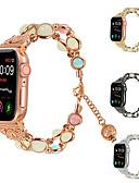 halpa Smartwatch-nauhat-Watch Band varten Apple Watch Series 4/3/2/1 Apple Korudesign Metalli / Keraaminen Rannehihna