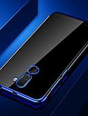 זול מגנים לטלפון-מגן עבור Huawei Huawei Honor 10 / כבוד 10 לייט / Honor 9 ציפוי / שקוף כיסוי אחורי שקוף רך TPU
