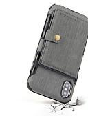 זול מגנים לאייפון-מגן עבור Apple iPhone XS / iPhone XR / iPhone XS Max מגנטי כיסוי אחורי אחיד קשיח עור אמיתי